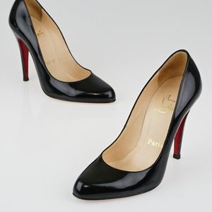 Christian Louboutin Black  Leather Décolleté 39